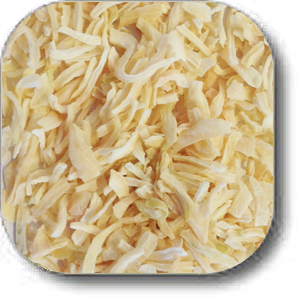 dehydrated chopped onion