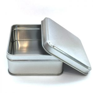 Square Metaol Spice Tins
