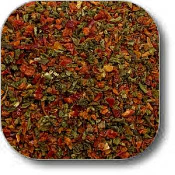 Red and Green Bell Pepper Granules