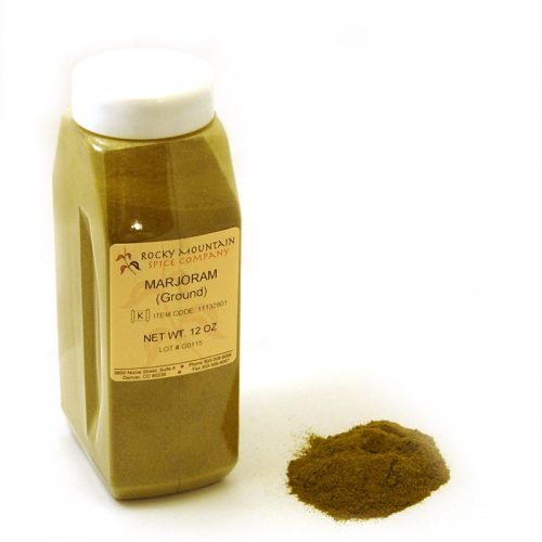 Ground Marjoram 12 Oz Small Bottle
