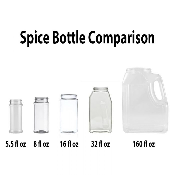 Spice Bottle Size Comparison